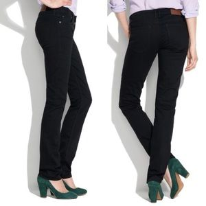 Madewell Rail Straight Black Jeans Size 25